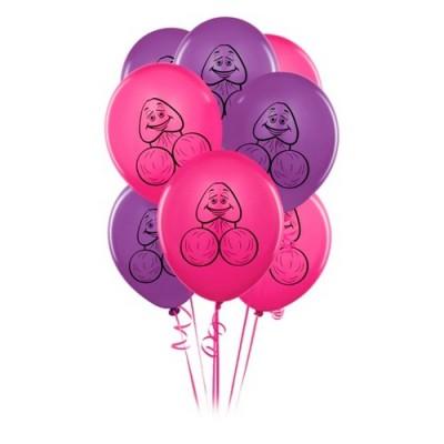 PALLONCINI BACHELORETTE PARTY 8 pezzi rosa e viola