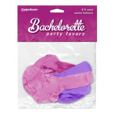 PALLONCINI BACHELORETTE PARTY 8 pezzi viola e rosa