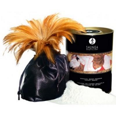 Shunga - Sensual Powder talco commestibile fragole e champagne 228 grammi