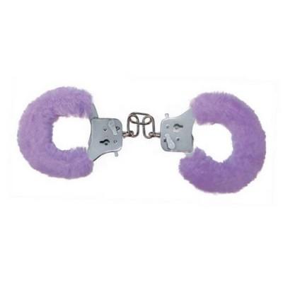 Manetta in alluminio con chiave ricoperta di pelo sintetico asportabile colore viola