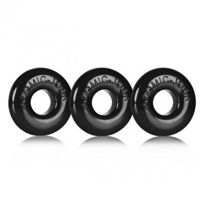 Set di tre anelli per il pene Oxballs  Ringer of Do-Nut 1 colore nero