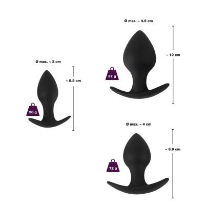 Tre plug anali di dimensioni diverse in silicone Anal Trainer Set