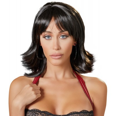 Parrucca Choppy Black Wig