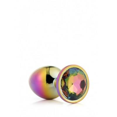 Plug Anale in Metallo Arcobaleno con Brillantino Arcobaleno S